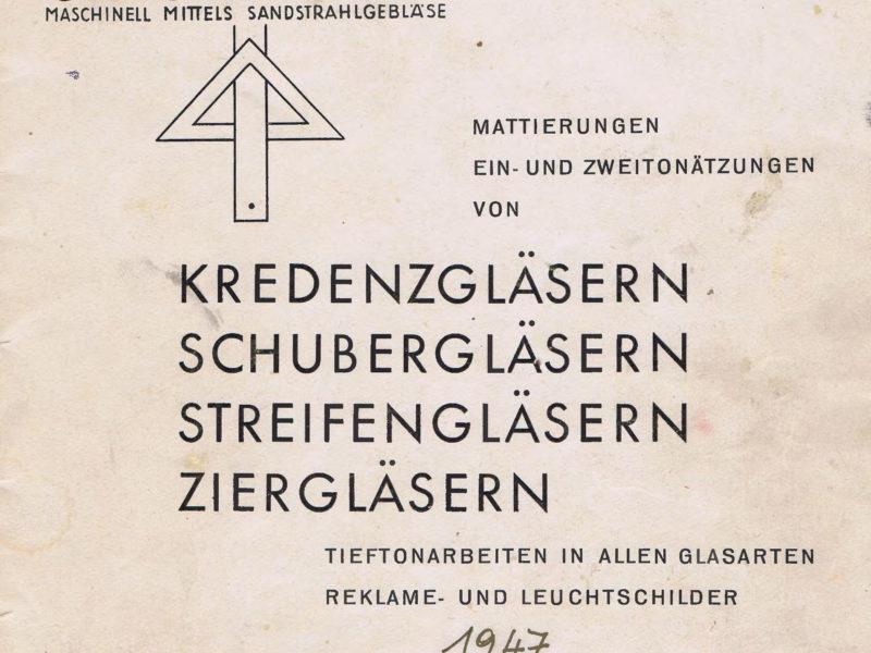 Fritz Spatny Katalog 1949 Seite 1