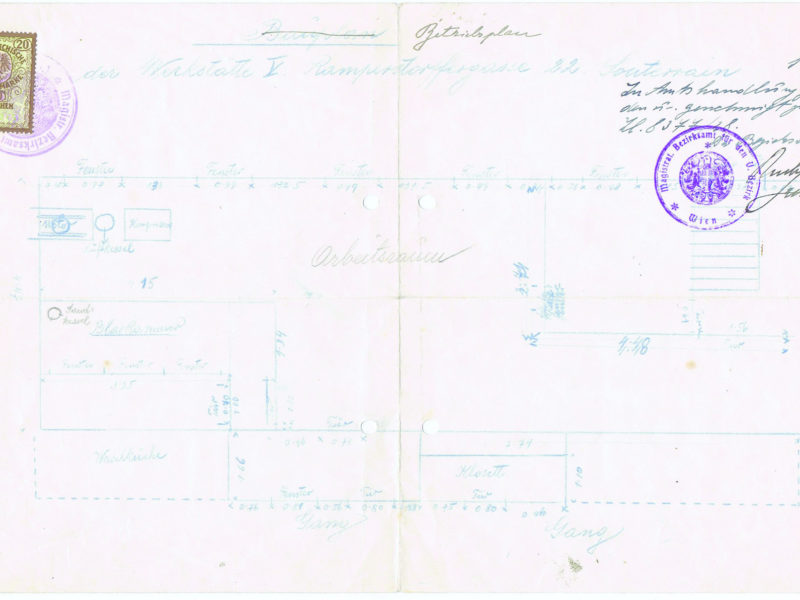 Plan Sandstrahlbläserei 1931